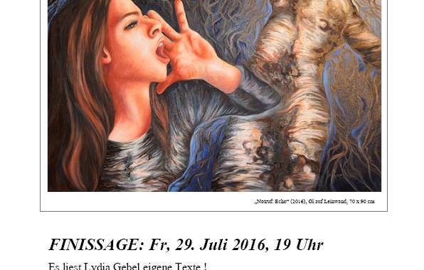 Finissage- Irina Einladung
